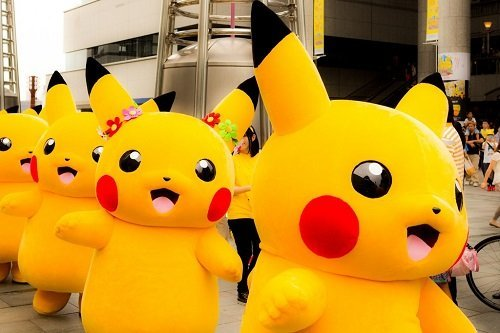 The Pikachu and Pokemon Festival in Japan