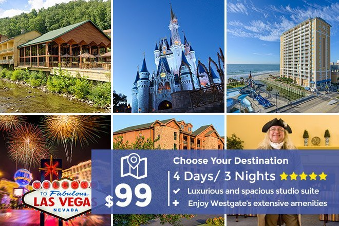 4 Days – 3 Nights Discount Resort Getaway – Limited Time Offer $99