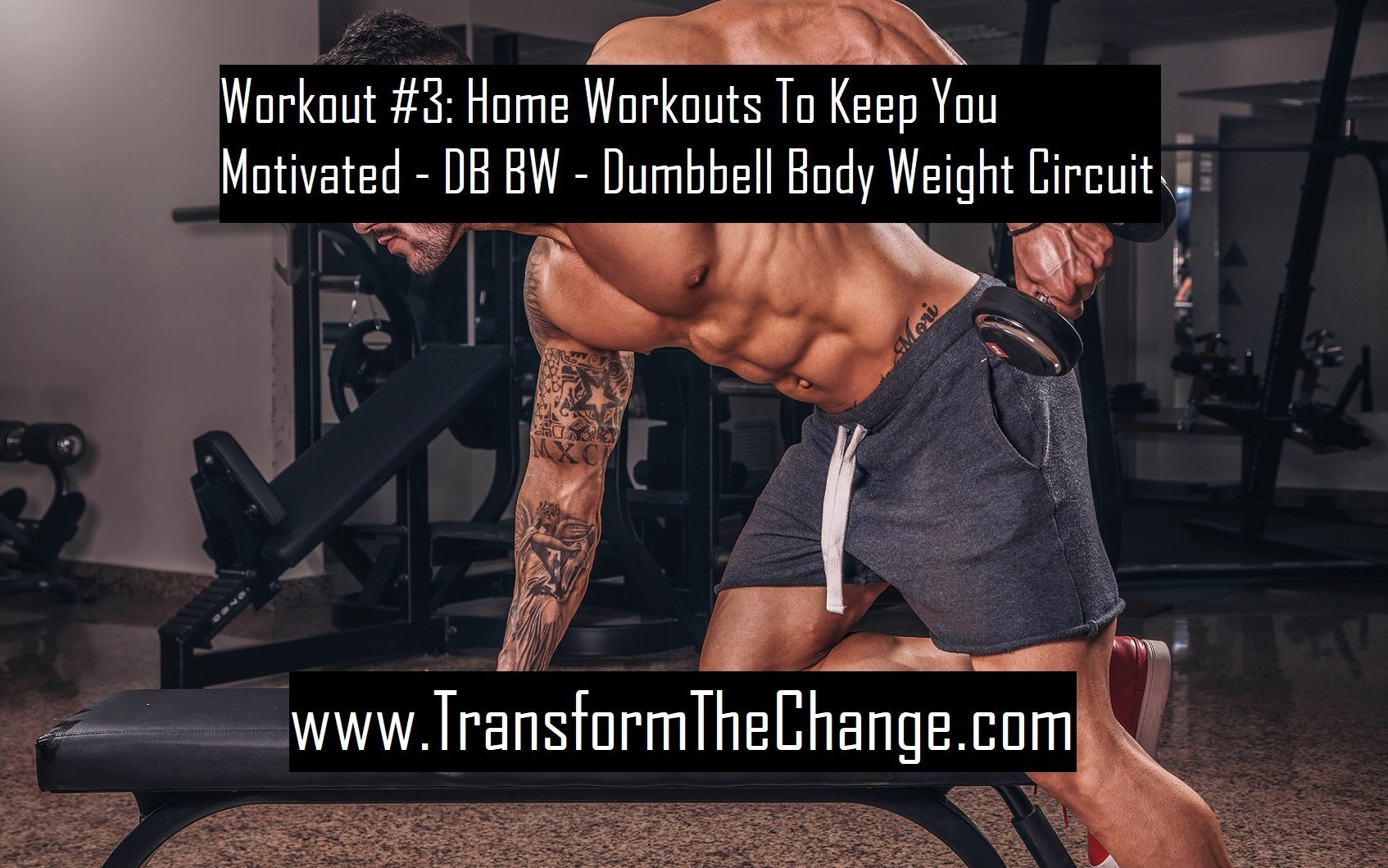 Workout #3: Home Workouts To Keep You Motivated – DB BW – Dumbbell Body Weight Circuit