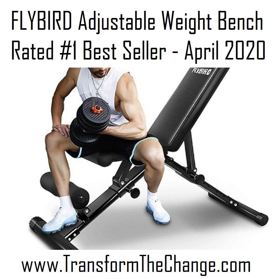 FLYBIRD Adjustable Weight Bench Rated #1 Best Seller – April 2020
