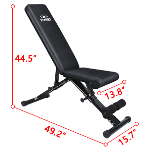 flybird adjustable weight bench size specs