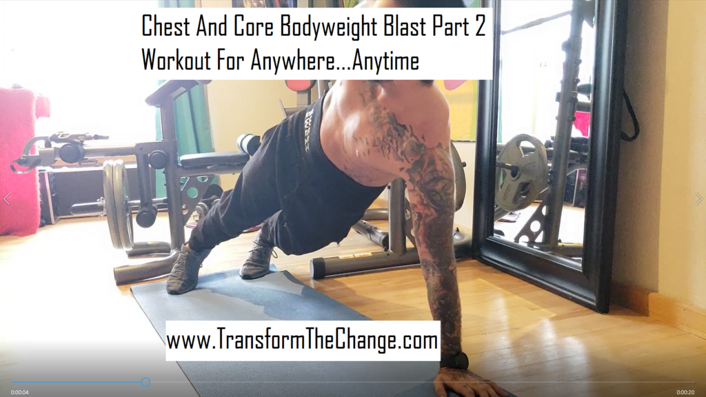 Chest And Core Bodyweight Blast Part 2 - Workout For Anywhere Anytime
