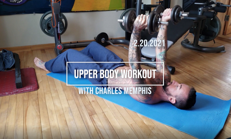 Upper Body Workout With Dumbbells 2-20-2021