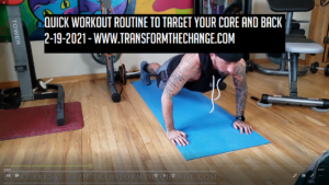Quick Workout Routine To Target Your Core And Back 2-19-2021